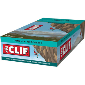 CLIF Bar Caja Barritas Energéticas 12x68g, Chocolate-Mint
